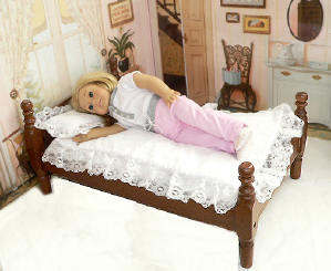 "Wood bed for 18"" dolls"
