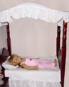 American Girl Dolls White Canopy bed