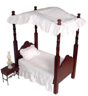 Doll Canopy Bed made of sturdy Wood