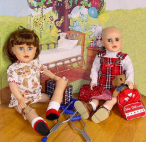 Sew Able Dolls with accessories