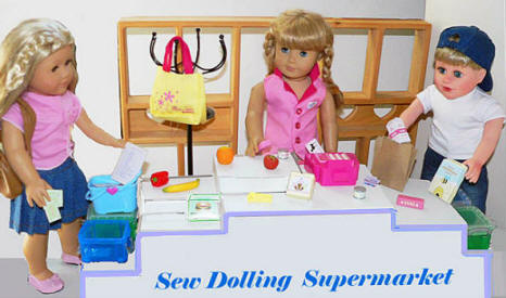 doll food shopping accessories