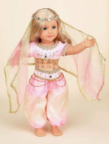 "18"" Doll belly dancing outfit"