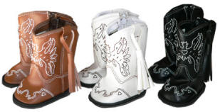 Footwear for your Doll: Cowboy boots