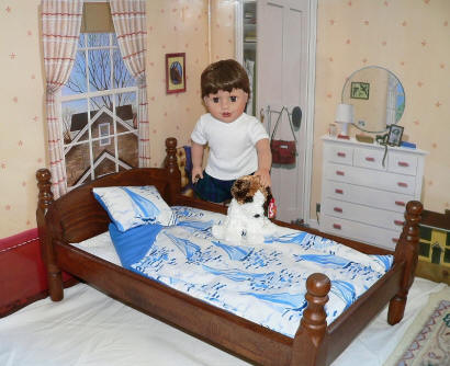 doll bed and bedding for boys