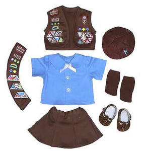 Brownie Scout doll Uniforms