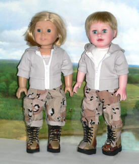 boy or girl doll army clothes