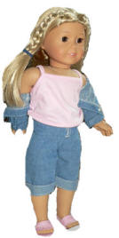 capri jeans top doll clothing