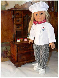 doll chef outfit