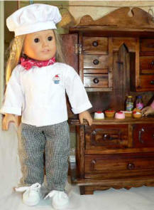 Cheft's outfit for your doll