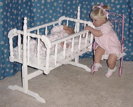 Doll furniture - cradle