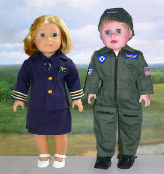 doll clothing pilot and stewardess