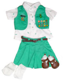 "18"" Doll Junior Scout Uniform with Socks and Shoes"