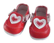 Red heart tennis shoes