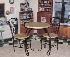 Ice Cream table and chairs for dolls