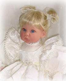 19-22 inch doll dress with ribbons and lace