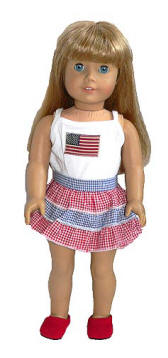 4th of July Outfit Fits American Girl Dolls