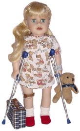 disabled doll for play therapy and sew able dollys