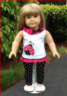 ladybug clothes for18 inch dolls