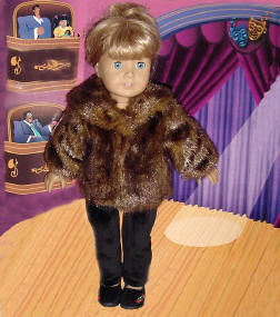 mink coat american girl doll