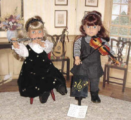 American girl dolls with our musical instrument accessories