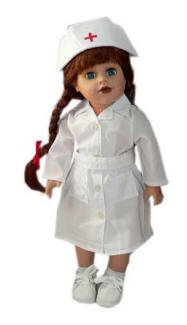 nurse outfit for 18 inch dolls