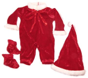 Santa doll clothes for Lee Middleton babies