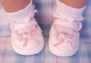 Designer baby shoes with pink trim