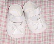 Designer baby shoes for Lee Middleton dolls with white trim