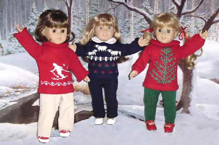 "Handmade Doll sweater fits  your 18"" or American Girl Doll!"