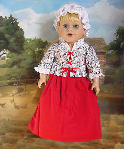 colonial jacket on 18 inch doll Sew Dolling