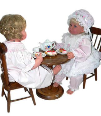 Lee Middleton and American Girl Doll Furniture Table Chair