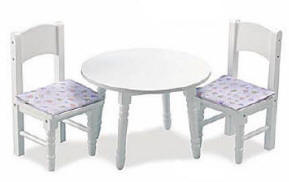 table and chairs for baby doll