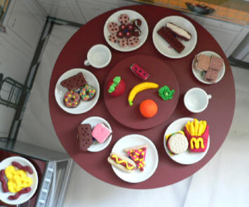 Mini play food sets