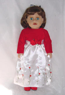 Holiday dress for an american girl doll