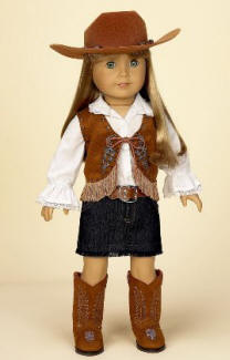 western cowgirl doll outfit