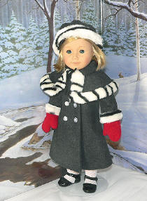 "Beautiful coat completes your 18"" Doll Christmas Outfits!"