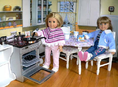 Kitchen Playsets for dolls like american girl