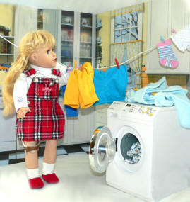 doll clothing washer